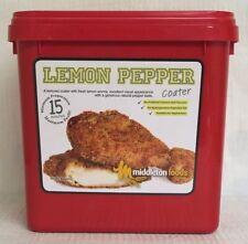 Middleton Foods 🌾 LEMON PEPPER COATER Meat Glaze Seasoning Mix 2.5kg Red Tub