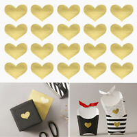 72pcs Gold Heart Stickers, 3 Sheets, Wedding Love Scrapbook, DIY Foil