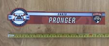 2018-19 Florida Panthers Chris Pronger Game Used Locker Room Name Plate