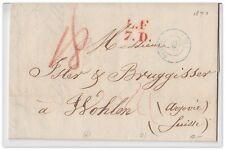 1840/41 France/Suisse (2 Belege) einfaches/doppeltes Porto (Postvertrag Basel/F)