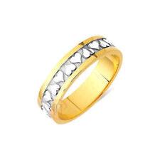 Anillos de joyería de oro amarillo de boda oro