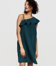 Loft Size XL Dress One Shoulder Emerald Green Holiday Party Cocktail 14 16 #bl