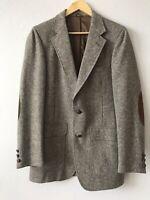 Vintage Richard Thomas Donegal Tweed Elbow Patch Sport Coat Jacket Blazer Wool