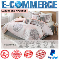 Luxury Conforter Bed Set Lighweight With 7 Pcs For All Season, Queen & King/Cal