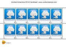 Nederland 2014-5  Ucollect Antarctica landkaart  velletje   postfris/mnh
