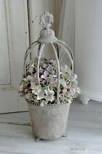 Übertopf Blumentopf Metalltopf Shabby Chic Vintage Landhaus