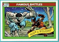 1990 Impel Marvel Universe Famous Battles #113 The Hulk Vs. Wolverine