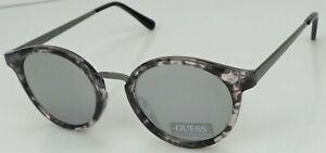 GUESS GF0305 56U Ladies Granite Frame Silver Mirror Lens Designer Sunglasses NEW