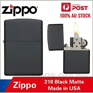 Genuine Zippo Lighter Black Matte 218, 90218, Made In USA, OZ Seller Best Price!