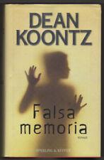 Dean KOONTZ - FALSA MEMORIA - Romanzo Sperling & Kupfer 2001 - Prima Edizione