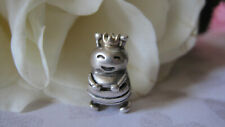 Pandora Retired TwoTone QUEEN BEE CHARM Sterling + 14K Gold Hand Polished 925ALE