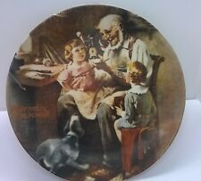 """Collector 8.5"""" Plate Norman Rockwell """"The Toy Maker' Knowles 1977 Usa"""