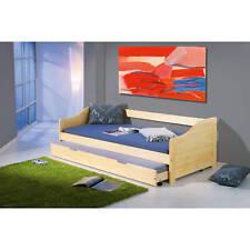 Bett 90x190 cm Kinderbett Funktionsbett Sofabett Massivholzbett Gästebett natur