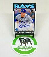 2021 Topps Series 1 MLB Baseball 1986 Topps Autograph Brandon Lowe Rays