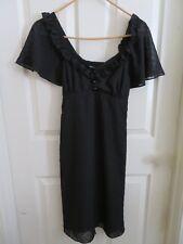 New Women's Alice Temperley Little Black Cocktail Dress Polka Dot Sheer Size 5