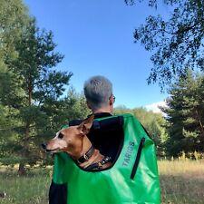 Hunderucksack Hunde Trage Rucksack für Hunde bis 8 kg Wandern, Radfahren Grün S