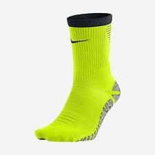 NIKE NIKEGRIP STRIKE DRI-Fit Soccer Crew Socks SX5090-702 (6-7.5) Volt/Black