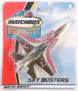 MATCHBOX HERO CITY COLLECTION SKY BUSTERS - F-15 - MATTEL WHEELS 2002 - NIP