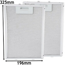 2 x AEG Mesh Metal Oven Cooker Hood Extractor Fan Vent Grease Filter 325 x 196mm