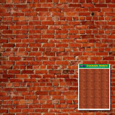 HO Scale Printed Card Sheets - 2 x A4 Old Red Brick Sheets on 200gsm - TSPCS1