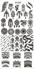 DREAM CATCHER FEATHER NAIL ART STAMPING PLATE STAMP IMAGE DESIGNS PLATES UK