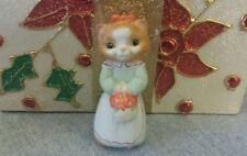 1989 Hallmark Collectors Series Christmas Kitty Fine Porcelain Ornament #1 NEW