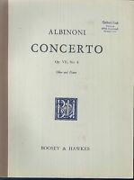 ALBIONI - CONCERTO Op. VII, No 6 - Oboe und Piano