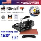 5in 1 DIY Digital Clamshell T-shirt Heat Press Machine Sublimation Transfer