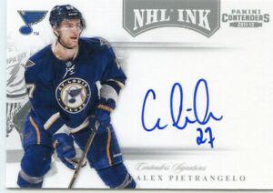 ALEX PIETRANGELO - 2011/12 PANINI CONTENDERS NHL INK AUTOGRAPH CARD. STL BLUES