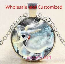 Nightmare Before Christmas Cabochon silver Glass Chain Pendant Necklace #3521