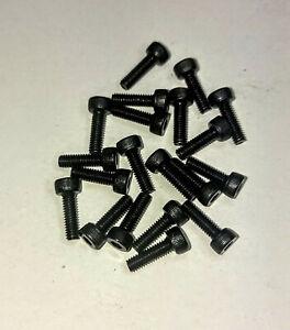 20 Zylinderschrauben Inbus DIN 912 Stahl M1,6 M2 M2,5 Schwarz Brüniert 12.9