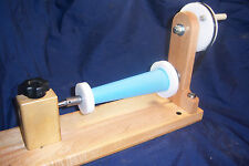 Wooden Bobbin Winder Double Ended Shuttles Spools Bobbins, w Cone Adapters