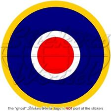 """RAF Royal Air Force Type C1 Aircraft Roundel UK British 100mm (4"""") Sticker Decal"""