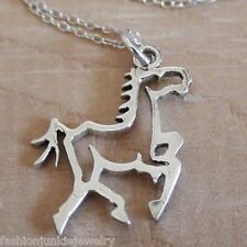 Horse Necklace - 925 Sterling Silver - Pendant Horses Equestrian Galloping NEW