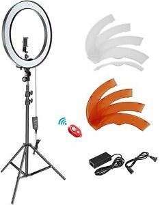 Neewer 18 inch Outer 55W Dimmable SMD LED Ring Photo Light Lighting Kit + Stand