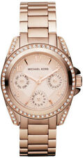 Michael Kors MK5613 Ladies Mini Bzel Rose Gold Stainless Steel Watch