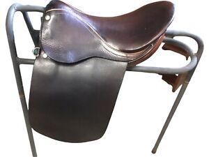 "Eldonian Walsall  English leather Pony Show  Saddle 14"", brown Ref(121B)"