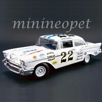 ACME A1807002 1957 CHEVROLET BEL AIR #22 FIREBALL ROBERTS #22 1/18 DIECAST WHITE
