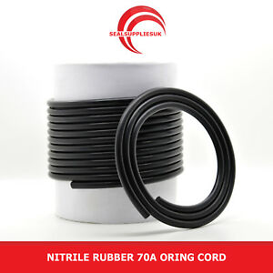 Nitrile Rubber 70 O Ring Cord NBR 2.4MM Dia. - From 1 Metre Length [UK Supplier]