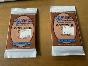 Magic: The Gathering, Revised Edition Booster Pack, Factory Sealed.
