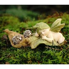 Miniature Dollhouse Fairy Garden Sleeping Fairy Baby With Hedgehogs
