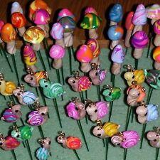 Miniature  1 Mushroom and 1 Snail assorted  Fairy Garden Dollhouse Terrarium