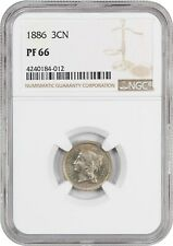 1886 3cN NGC PR 66 - 3-Cent Nickel