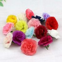 """10/20P Small Carnation 2"""" Bulk Artificial Silk Flower Heads Wedding Home Decor"""