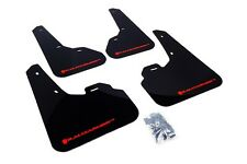 Rally Armor Mud Flaps Guards for 10-13 Mazda3 Mazdaspeed 3 (Black w/Red Logo)