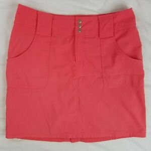 JoFIT Golf Tennis Skirt / Skort Coral Pink with Side and Rear Pockets Size 8