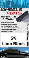 Lexus CT200H Vitre Teintée 5% Limousine Noir isolation UV Film solaire Kit