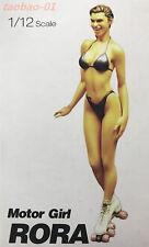 resin figure model garage kit 1/12 miniatures Sexy bikini Motor Girl RN2163