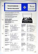 TELEFUNKEN HIFI CENTER 4525 ORIGINAL service-information / AMPLIFICATEUR ! O53