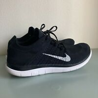 Nike Free Flyknit 4.0 Mens Size 9 Black White Oreo Running Shoes 631053-001